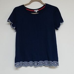 Cropped navy top
